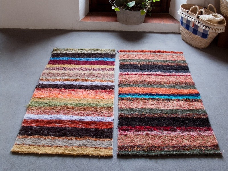 tapis stripes 70x200, descente de lit -