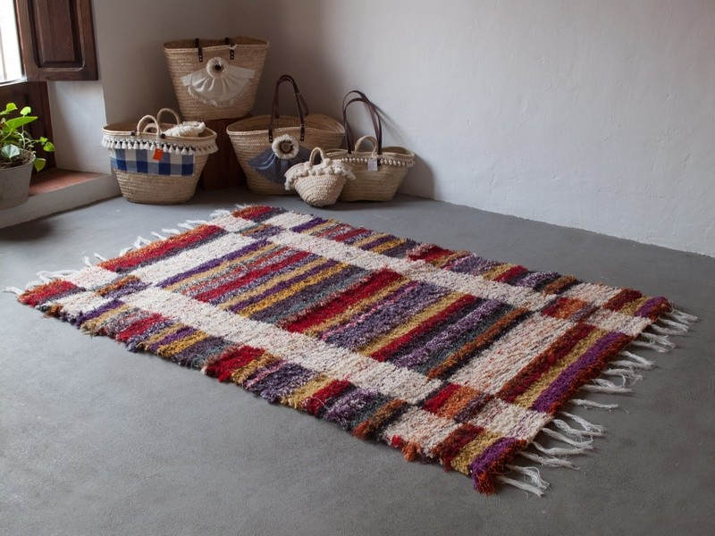 Tapis multicolore hacienda - Tapis salon multicolore ...